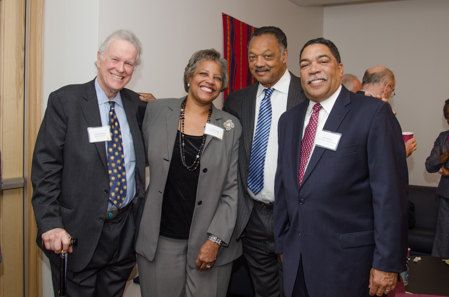 Charles Benton, S. Jenell Trigg, Rev. Jesse Jackson, UCC OC Inc. Board Chair, Earl Williams